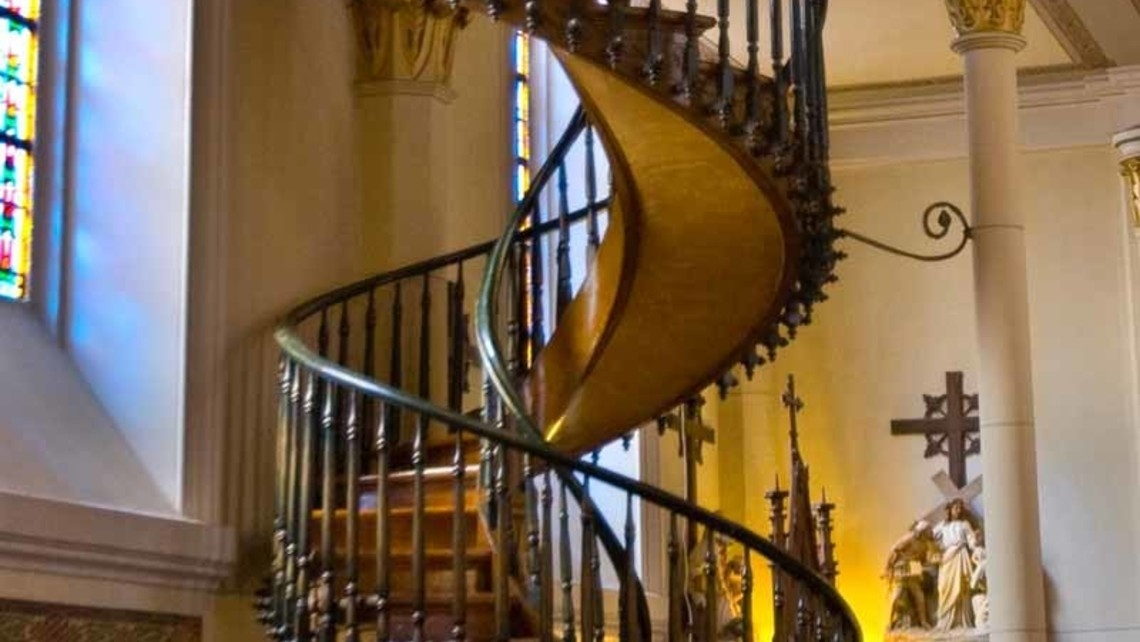St Joseph And The Miraculous Staircase Missouri Catholic Conference | The Staircase Of Loretto Chapel | Original | Light | Weird | Stairway | Magical
