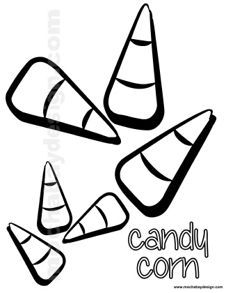 printable halloween coloring page of candycorn mochabaydesign com