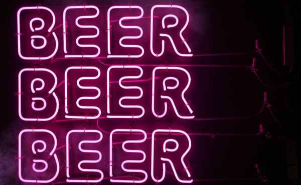 photo of beer neon signage