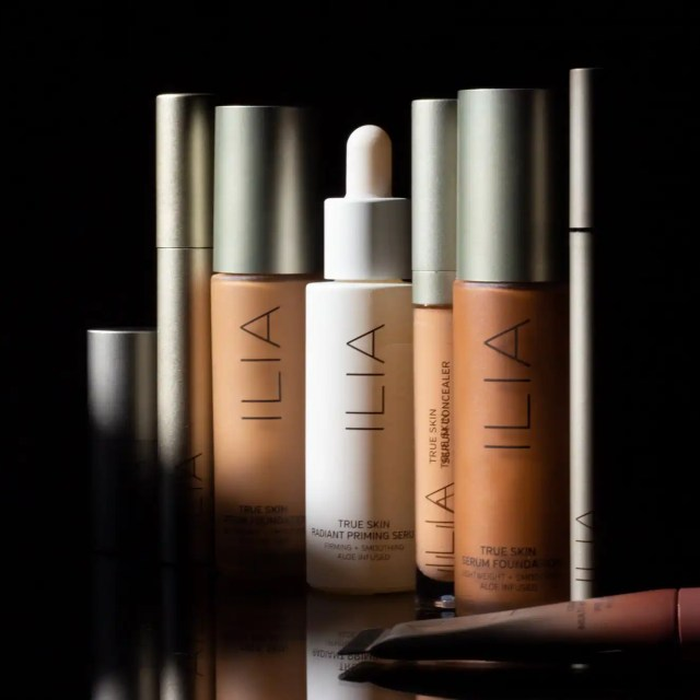 Ilia Beauty products on black background