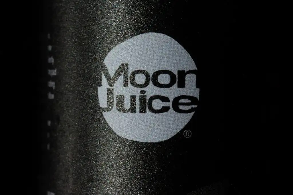 Moon Juice logo macro shot