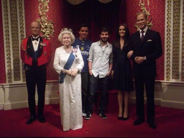 Família Real no Madame Tussauds