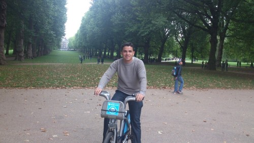 Pedalando no Green Park London