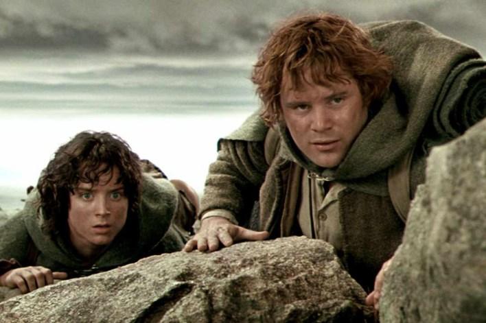 Sam y Frodo Mochileros