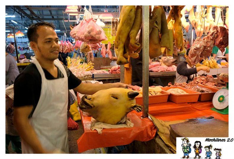 Cabezas de vaca, mercado Chow Kit