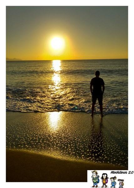 amanecer playa parazuelos