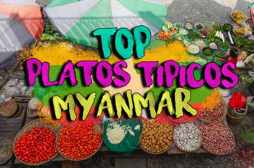 Platos tipicos de Myanmar