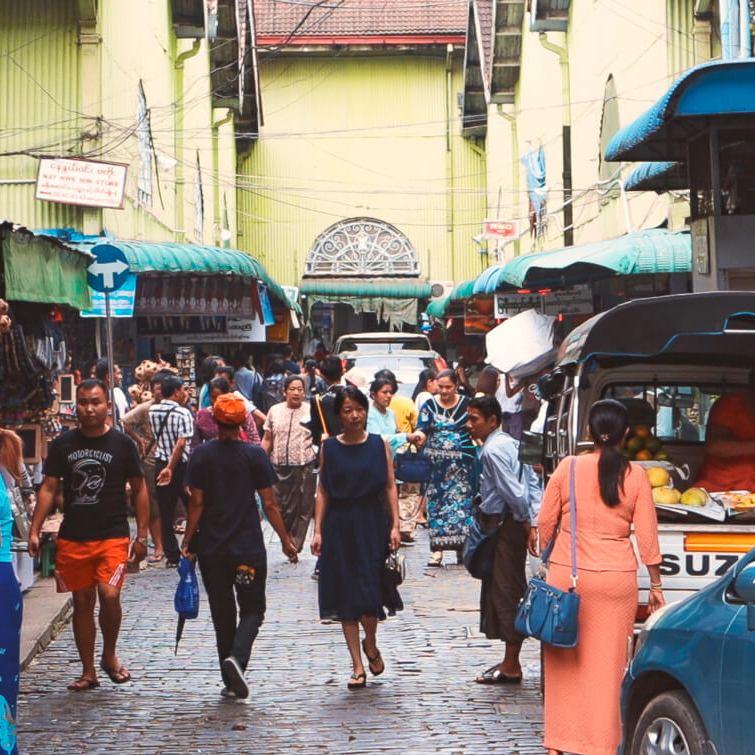 Que ver Yangon Myanmar Mercado Bogyoke