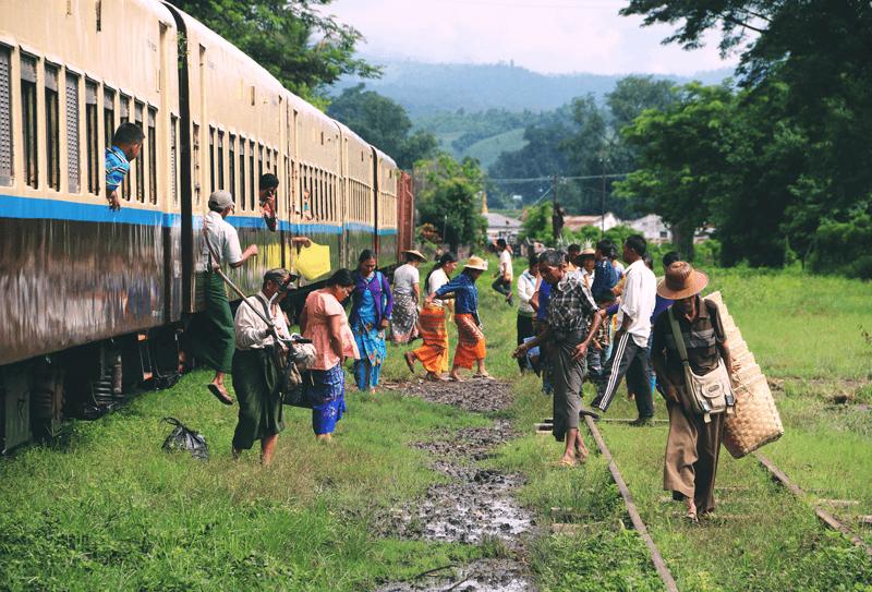 Que ver Rangun tren circular