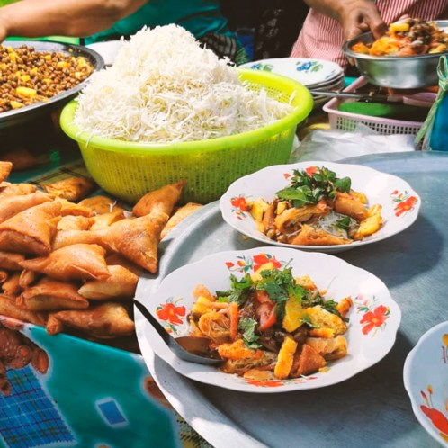 Comida en Myanmar platos tipicos