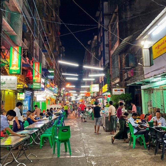 que se come en myanmar Yangon