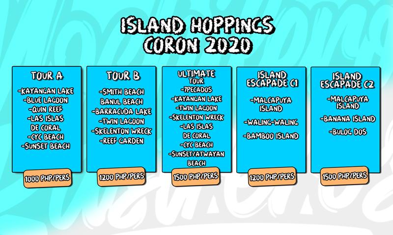 Island Hoppings Coron precios actualizados