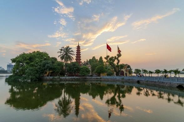 Pagoda Tran quoc en Hanoi