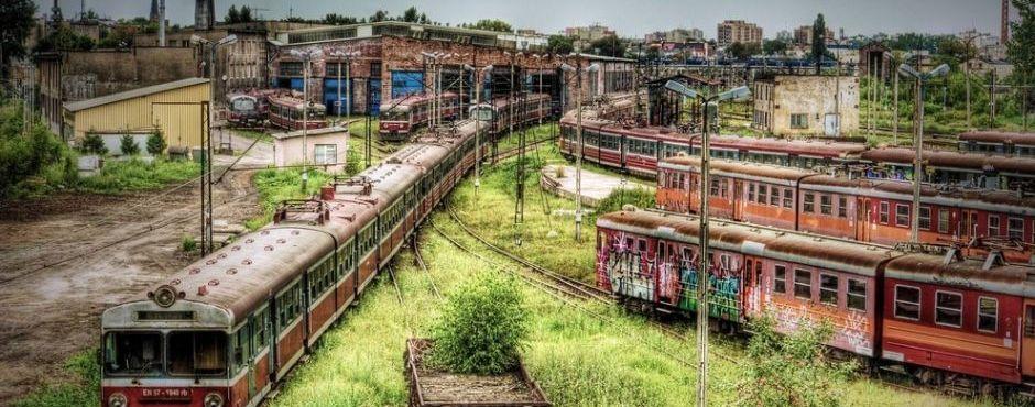 Lugares-abandonados-CZESTOCHOWA-estación-depósito-trenes-Polonia
