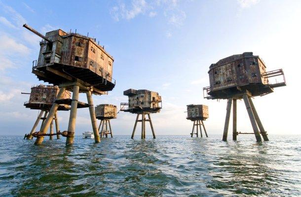 Lugares-abandonados-The-Maunsell-Sea-Forts-Inglaterra