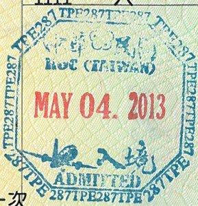 Sello-pasaporte-visa-on-arrival-Taiwan