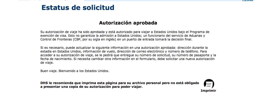 autorización-ESTA-solicitud-autorizada