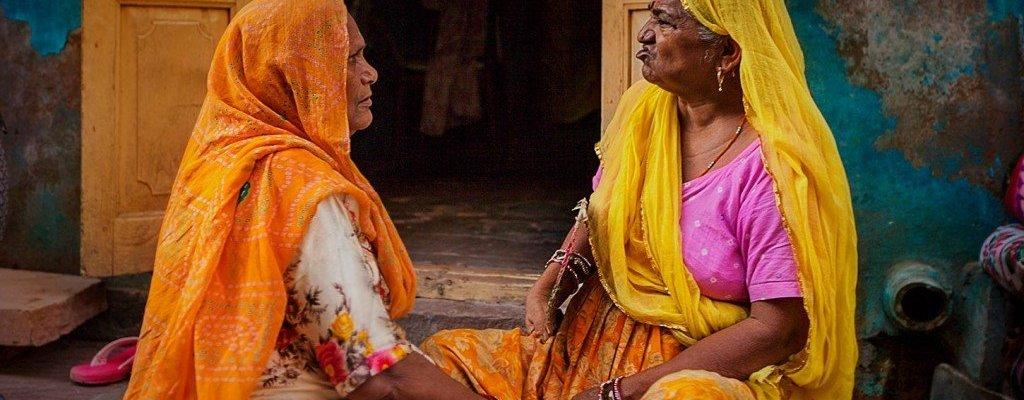 Jodpur-India-mujeres-calle-sari