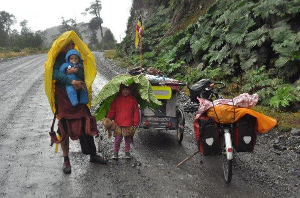 Mundubicyclette-vuelta-mundo-bicicleta-Chile-lluvia