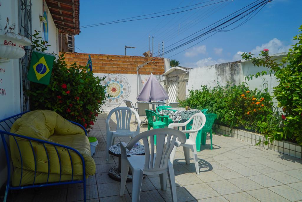 Tijuana Hostel Sao Luis terraza entrada