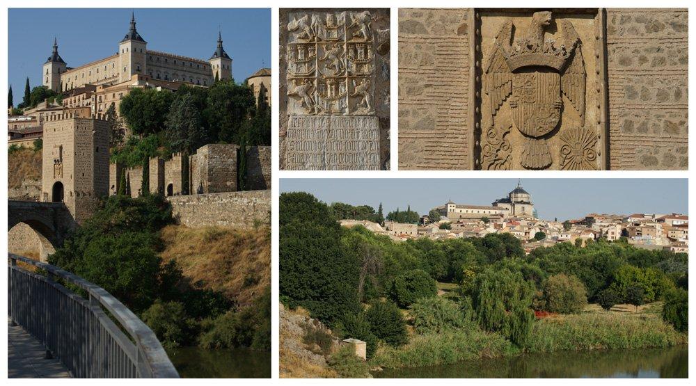 Puente de Alcántara en Toledo sobre el río Tajo