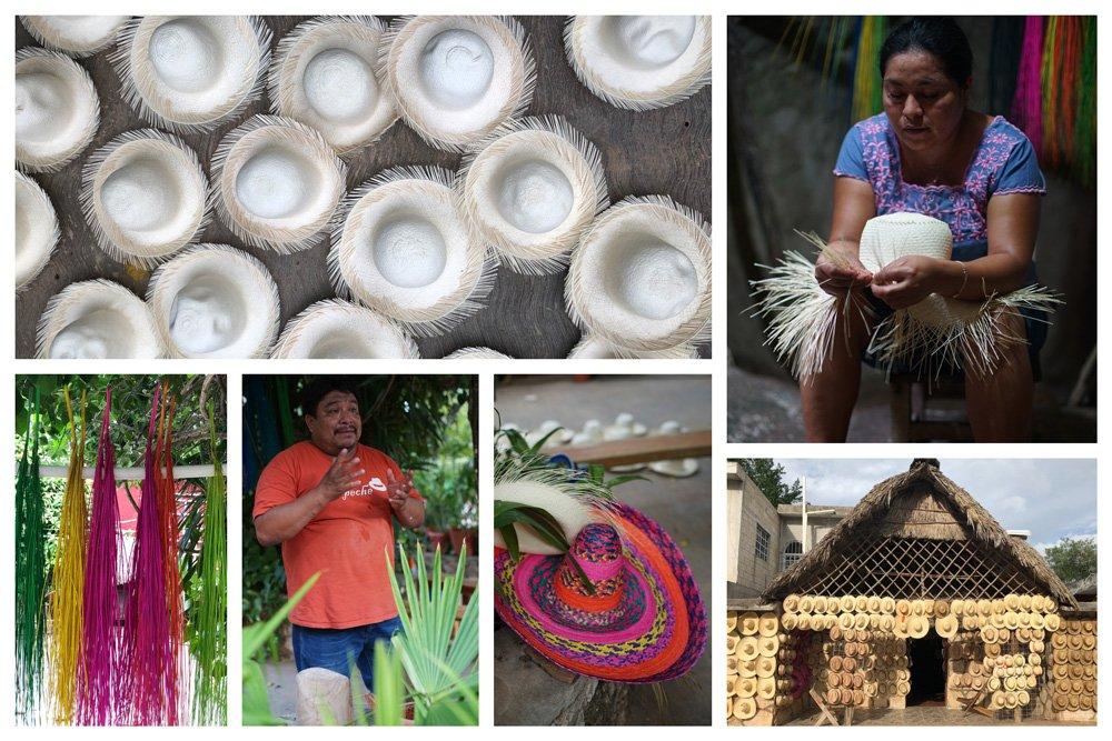 Que ver en Campeche, los sombreros de jipijapa de Bécal