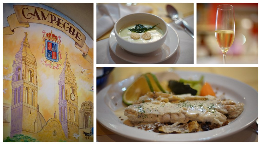 que ver en Campeche: comer en el restaurante Bastión de San Francisco de Campeche