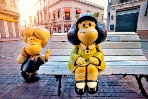 Estatua de Mafalda en Barrio de San Telmo