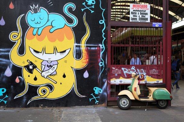 Mercado de las Pulgas en el barrio Colegiales en Buenos Aires
