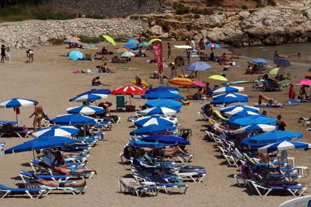 playa familiar en Sitges