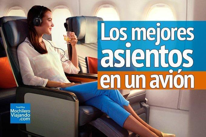 Cuáles son los mejores asientos en un avión