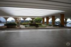 Jardim no terraço do Palácio do Itamaraty
