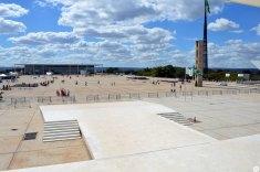 Praça dos Três Poderes vista de dentro do STF