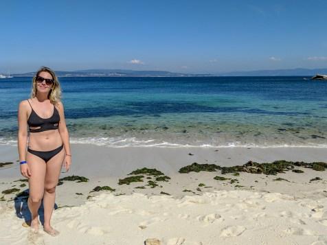 A Praia Area de Cans é a mais acessível da ilha