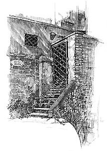 Roma・ティベリーナ島の風 / 画 望月麻里 illustrated by (C) Mari Mochizuki.