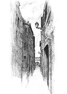 Roma・セッティミアーナ門へ / 画 望月麻里 illustrated by (C) Mari Mochizuki.