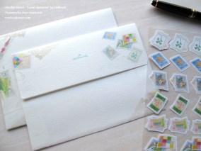 ステッカー・トラベル メモリーズ・日本ホールマーク/ 原画 望月麻里 Travel Memories by Hallmark. Illustrated by Mari Mochizuki 【No.687731:200JPY・200円 】