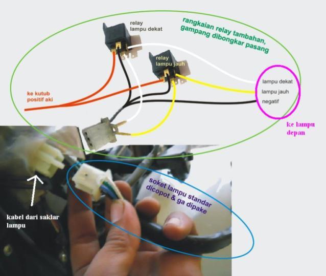 HOWTO: Memasang Relay untuk Lampu Motor   DO & SHARE