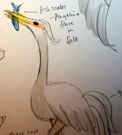 Crane Drawing © Jan Lane