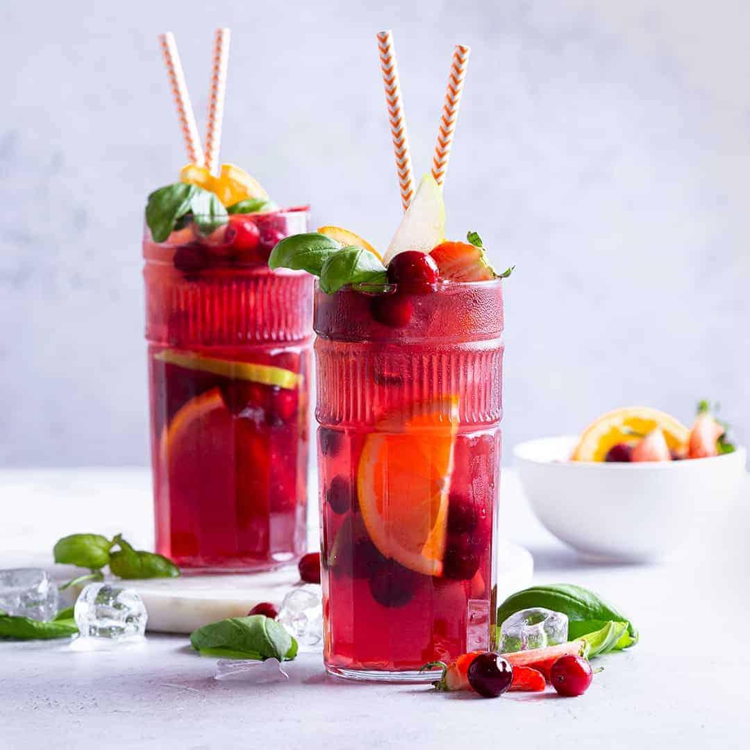 Cranberry Basil Sangria