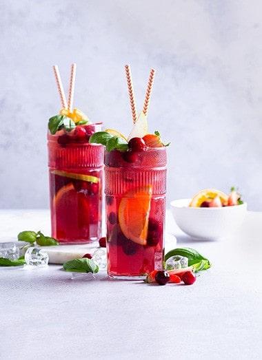 Cranberry Basil Sangria Recipe