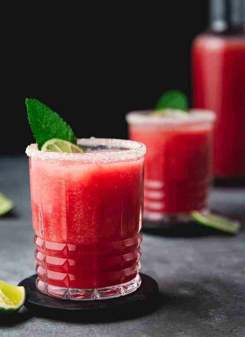 Fresh Watermelon Margarita Recipe - Fruit Juices Recipe Online - Mocktail Recipes