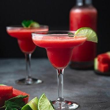 Fresh Watermelon Margarita Recipe - Mocktail Recipes - Mocktail.net