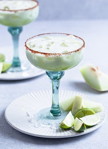 Non Alcoholic Honeydew Margarita