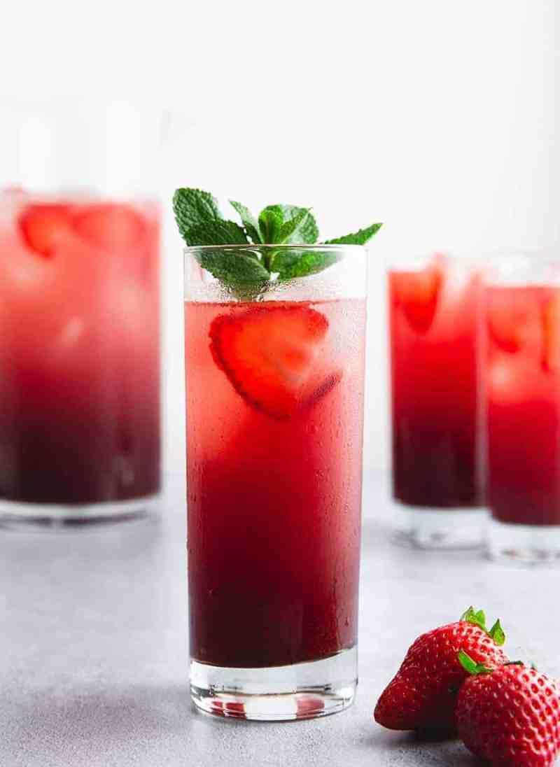 Strawberry Acai Refresher - Fruit Refreshers Recipe Online - Mocktail.net