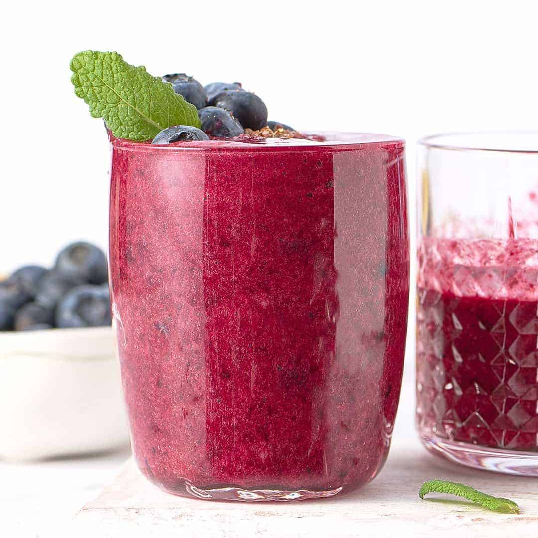 Vanilla, Blueberry and Almond Butter Smoothie