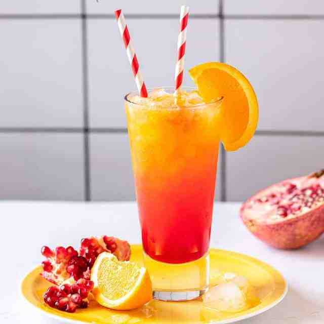 Summer Sunrise Mocktail · Best Easy Virgin Drink Recipe · Mocktail.net