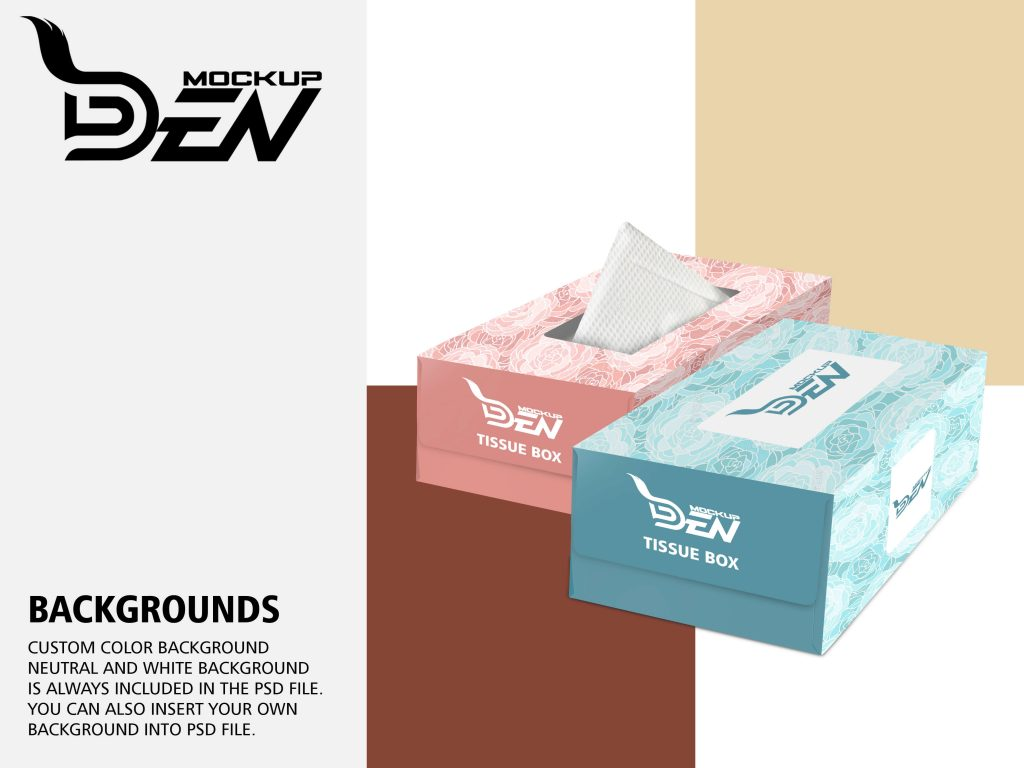Download Free Luxury Tissue Box Mockup PSD Template Pack ...