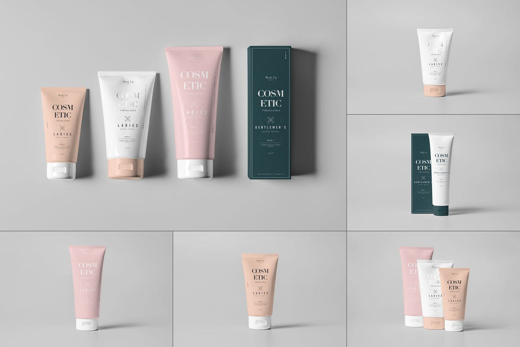 Download 20+ Free Creative Cosmetic Tube Mockup Packaging in PSD