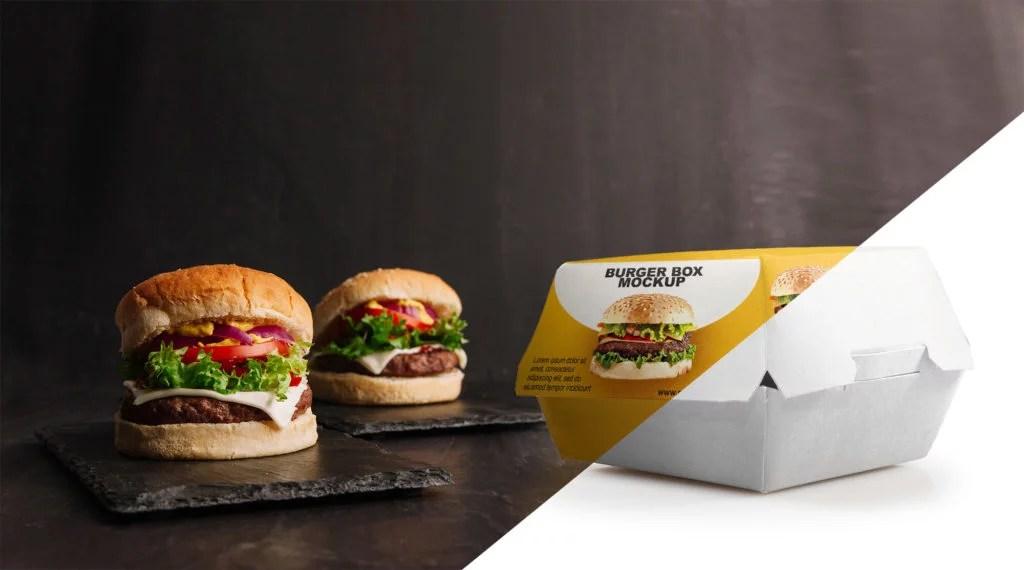 Download Free Burger Box Mockup PSD Template - Mockup Den